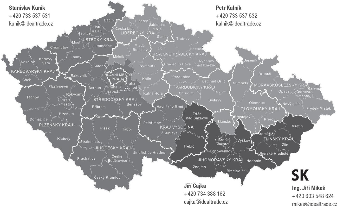 Mapa obchodních zástupců