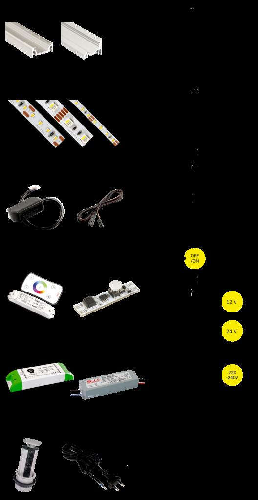 Schéma zapojení LED