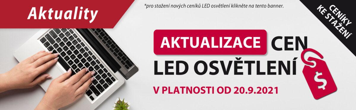 Aktualizace cen LED sortimentu